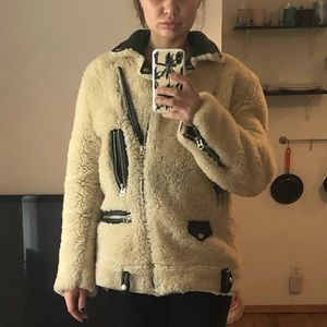 ACNE shearling winter jacket S